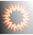 Realistic fire transparent effect frame EPS 10 vector image vector image