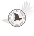 retro vintage flying eagle hawk falcon badge vector image vector image