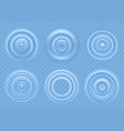 ripple on blue water circular waves of vector image vector image