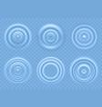 ripple on blue water circular waves vector image vector image