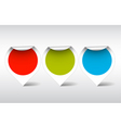 round labels for different items vector image vector image