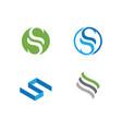 s letter logo template design vector image vector image