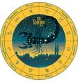 scorpio signs of the zodiac vector image vector image