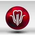 screwed false tooth icon anatomy beauty brightly vector image