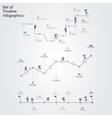 set infographics design templates vector image