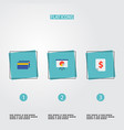 set of analytics icons flat style symbols with vector image