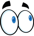 Set of cartoon eyes vector image vector image