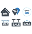 Shopping Sale Flat Icons vector image