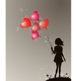 Silhouette of girl vector | Price: 1 Credit (USD $1)