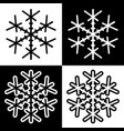 snowflake symbols icons simple black white set 4 vector image vector image
