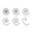 spiral logo design elements set spirals vector image