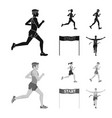 sport and winner icon set vector image vector image