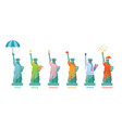 statue liberty in season vector image vector image