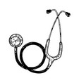 stethoscope engraving vector image vector image