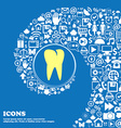 tooth icon Nice set of beautiful icons twisted vector image