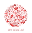 Valentines Day mosaic icons circle card vector image vector image