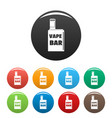 vape box bar icons set color vector image