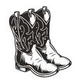 vintage cowboy boots concept vector image