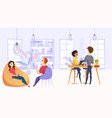 working environment in company office vector image vector image