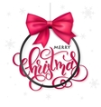 christmas poster with hand lettering golden vector image