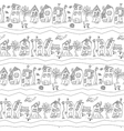 Seamless pattern with abstract town street vector image