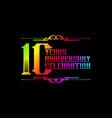 10th years anniversary logo template