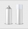 3d realistic white blank spray can spray vector image vector image