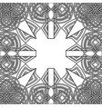 abstract gothic outline tracery or frame vector image vector image