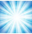 abstract of blue sky with sun burst in center vector image vector image