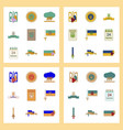assembly flat icons ukraines independence day vector image