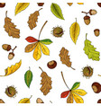 autumn leaves pattern seamless texture vector image