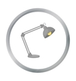 Balanced-arm lamp icon in cartoon style isolated vector image