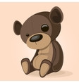 Basic brown teddy vector image
