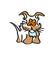 brown earth dog children drawing vector image vector image