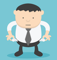 Businessman no money Overweight businessman vector image
