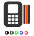 Card processor flat icon vector image