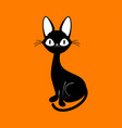 card with black cat vector image