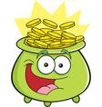 Cartoon pot of gold vector image vector image