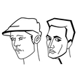 Cartooning faces of the man vector image vector image