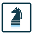 Chess horse icon vector image vector image