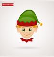 christmas elf icon symbol vector image