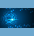 circle blue abstract technology innovation vector image