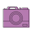 color digital camera technology equipment design vector image
