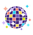 colorful disco ball that shines bright isolated vector image vector image