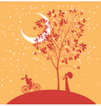 date under the moon vector image vector image
