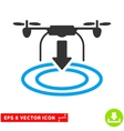 Drone Landing Eps Icon vector image vector image