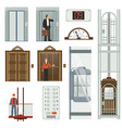 elevator icon set vector image