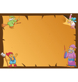 fairy tale frame wizards vector image vector image