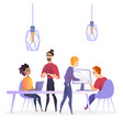 flat creative office business company vector image