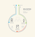 Flat linear Infographic Education Science Chemistr vector image